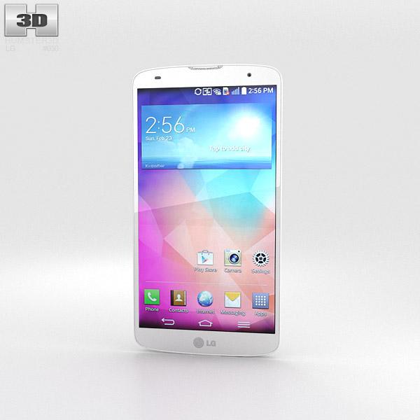 LG G Pro 2 White 3d model