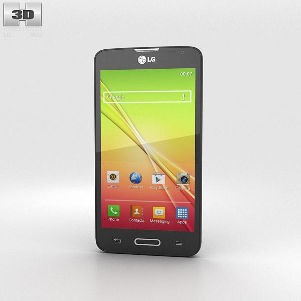 LG L70 Black 3d model