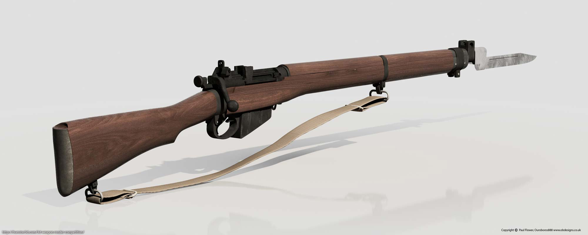 Lee Enfield Rifle 3d art