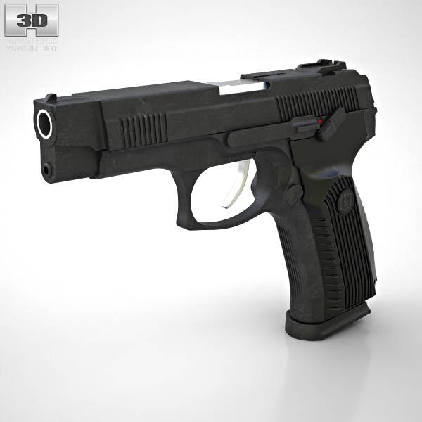 MP-443 Grach 3D model - Weapon...