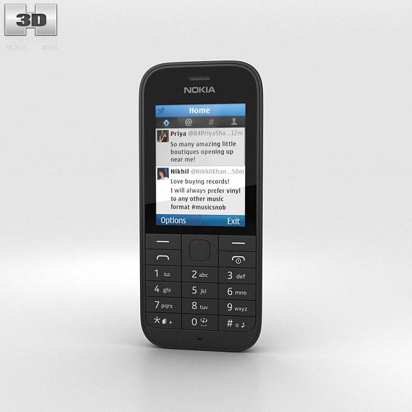 Nokia 220 Black 3d model