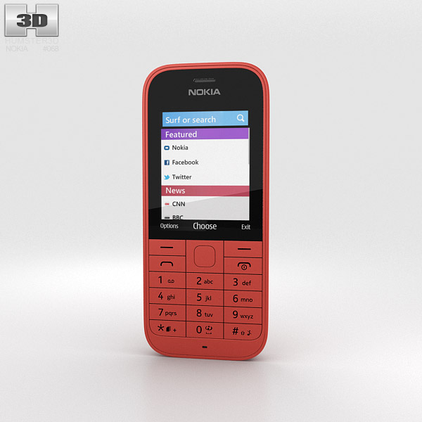 Nokia 220 Red 3d model