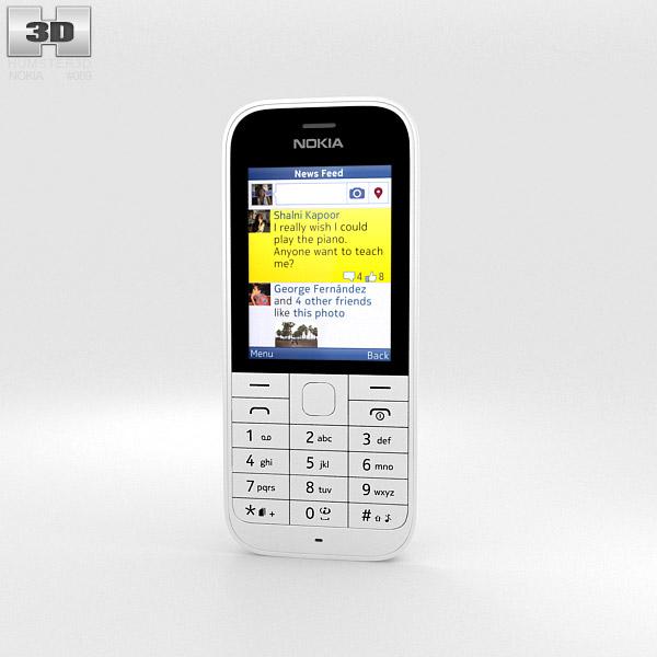 Nokia 220 White 3d model