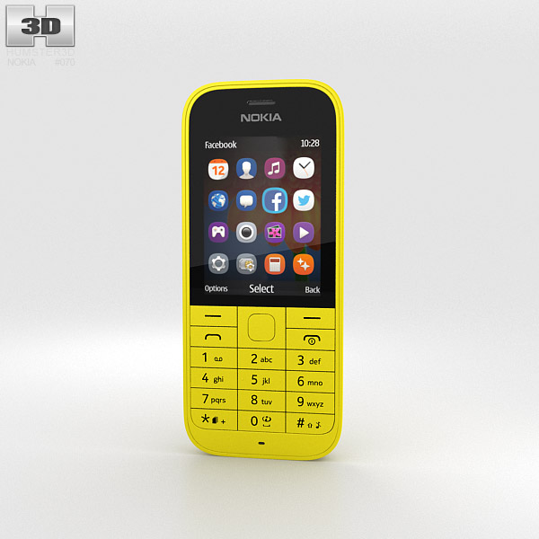 Nokia 220 Yellow 3d model