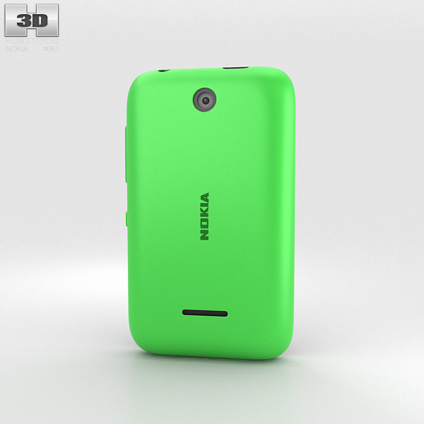 Nokia Asha 230 Bright Green 3d model