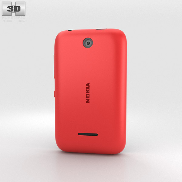 Nokia Asha 230 Bright Red 3d model