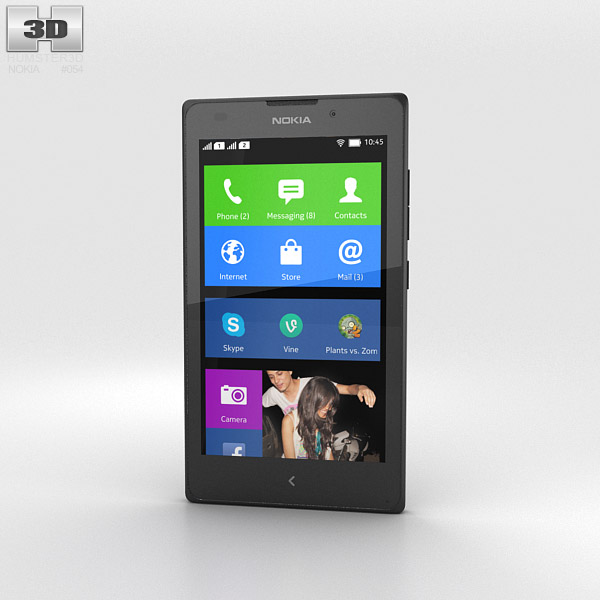 Nokia XL Black 3d model