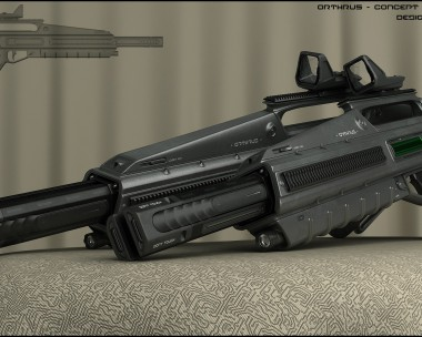 Orthrus – concept of energy rifle