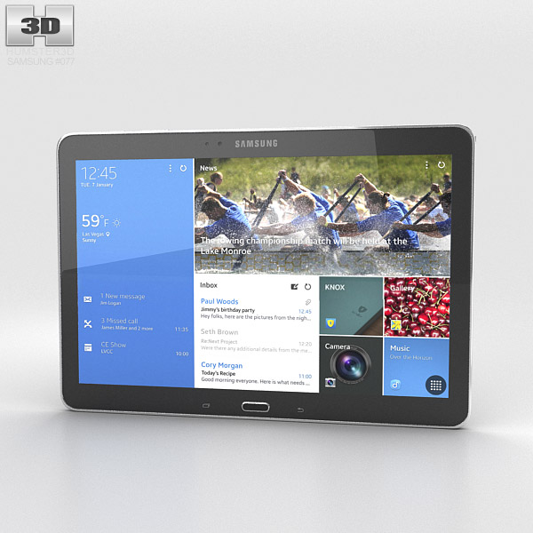 Samsung Galaxy NotePRO 12.2 inch Black 3d model