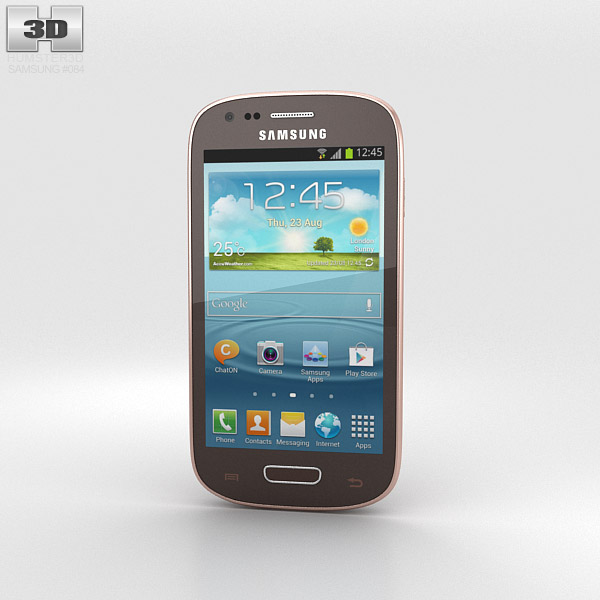 Samsung Galaxy S III Mini Amber Brown 3d model