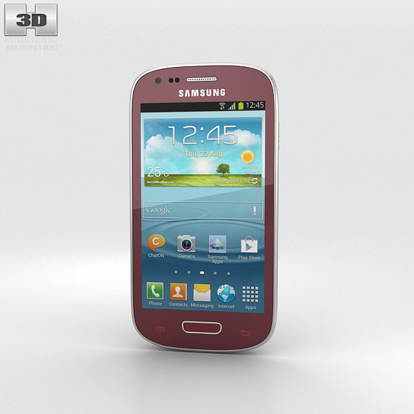 Samsung Galaxy S III Mini Garnet Red 3d model