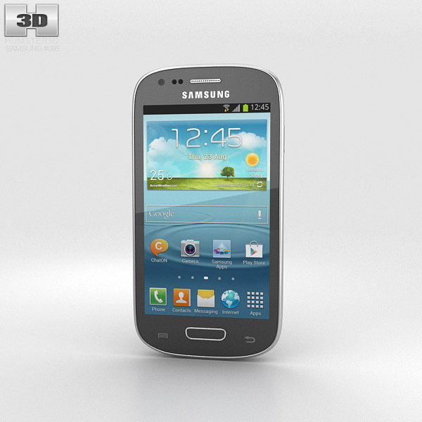 Samsung I8200 Galaxy S III Mini VE Gray 3d model