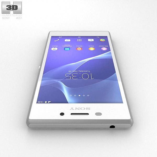 Sony Xperia M2 White 3D model - Hum3D