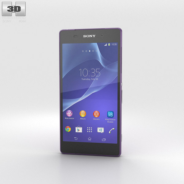 Sony Xperia Z2 Purple 3d model