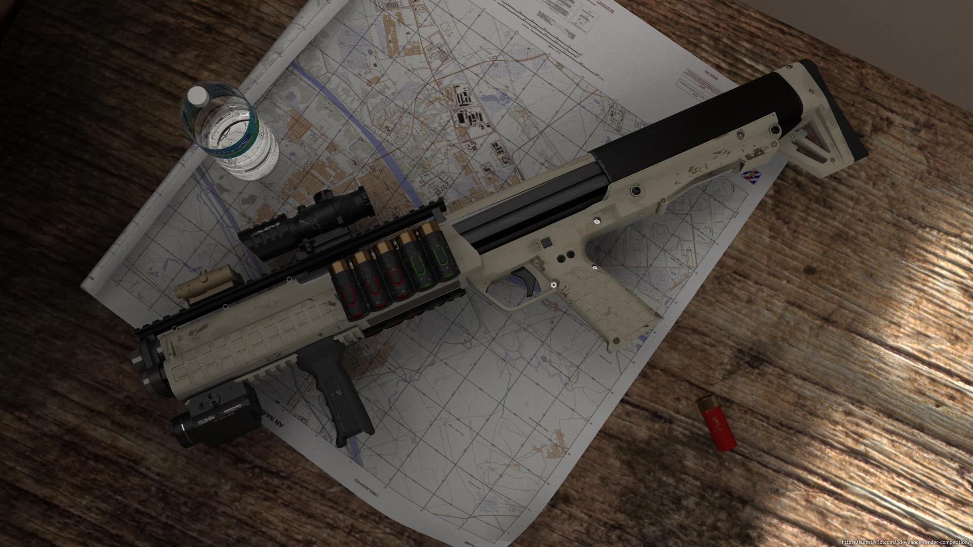Shotgun 3d art