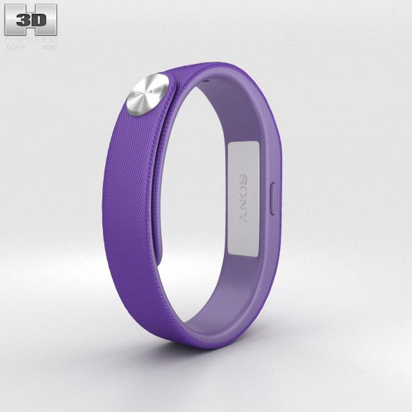 Sony Smart Band SWR10 Purple 3d model
