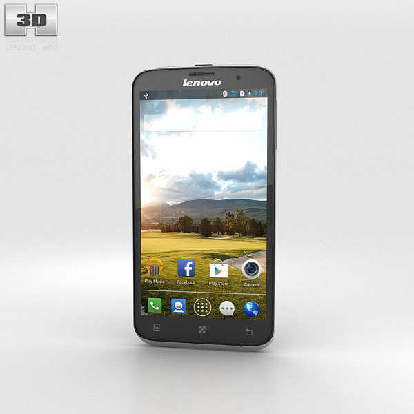 Lenovo A850 Black 3d model