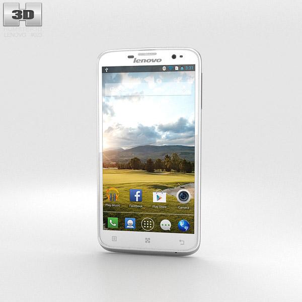 Lenovo A850 White 3D Model