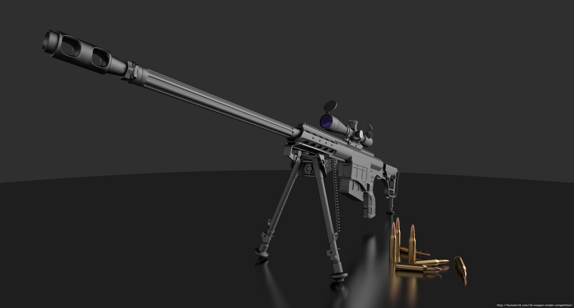 M98B Sniper Rifle 3d art