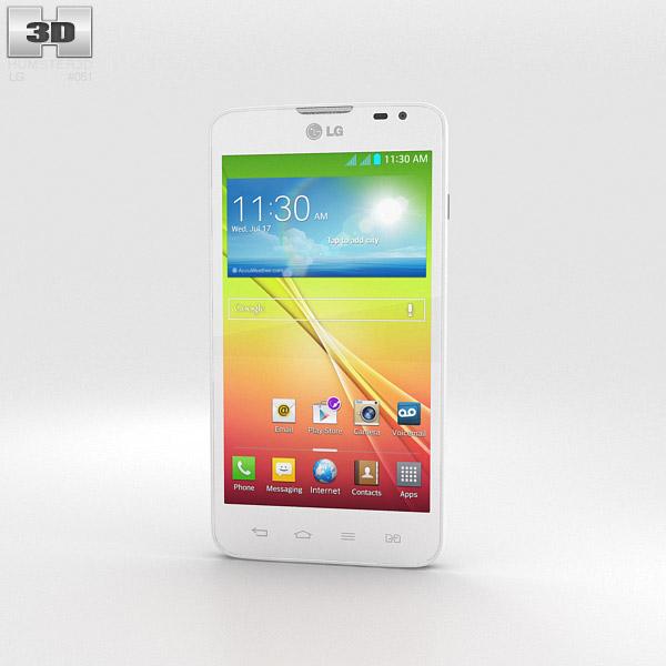 LG L70 Dual White 3d model