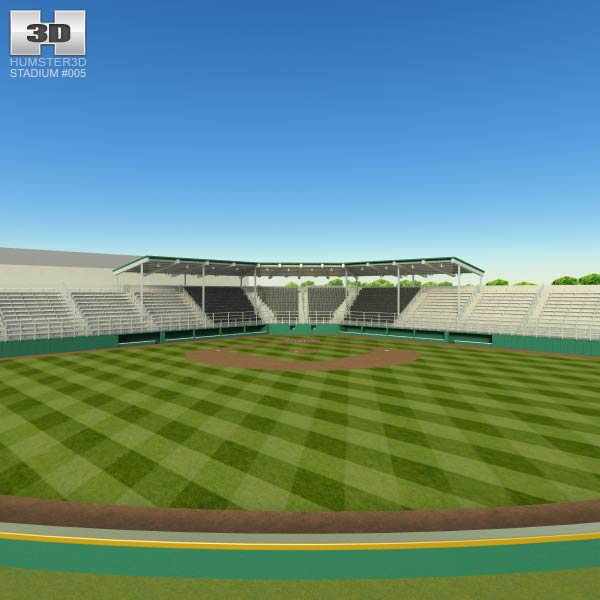 Little League Volunteer Baseball Stadium 3d model