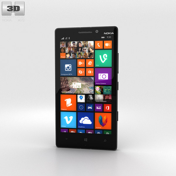 Nokia Lumia 930 Black 3d model