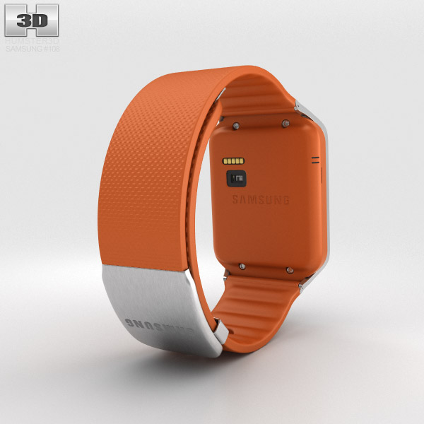 Samsung Galaxy Gear 2 Orange 3d model