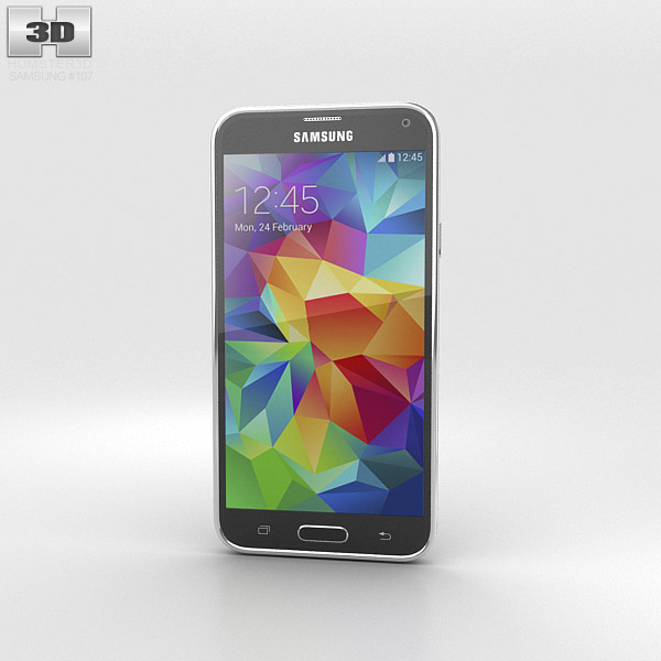 Samsung Galaxy S5 G9009D Black 3d model