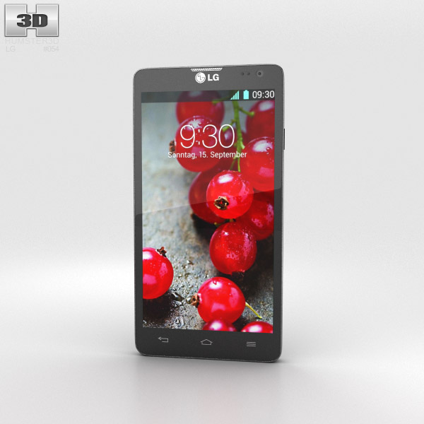 LG Optimus L9 II Black 3d model