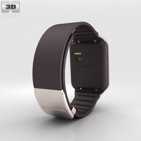 Samsung Galaxy Gear 2 Gold Brown 3d model