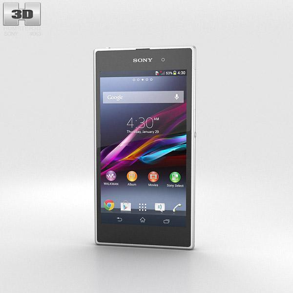 Sony Xperia Z1 White 3d model