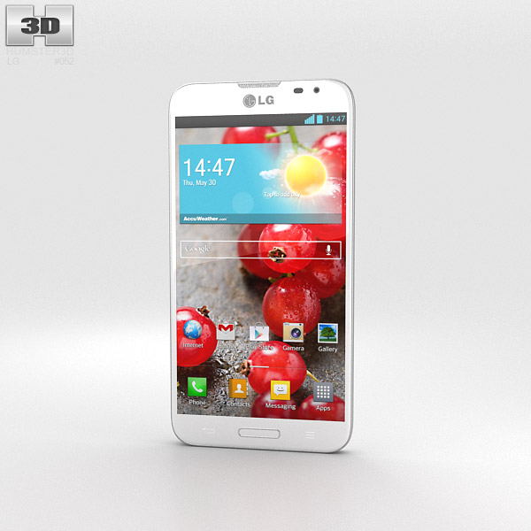 LG Optimus G Pro White 3d model