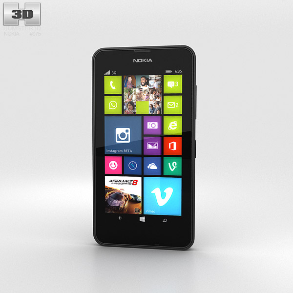 Nokia Lumia 630 Black 3d model