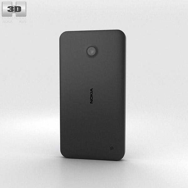 Nokia Lumia 630 Black 3d model