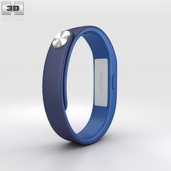 Sony Smart Band SWR10 Dark Blue 3d model
