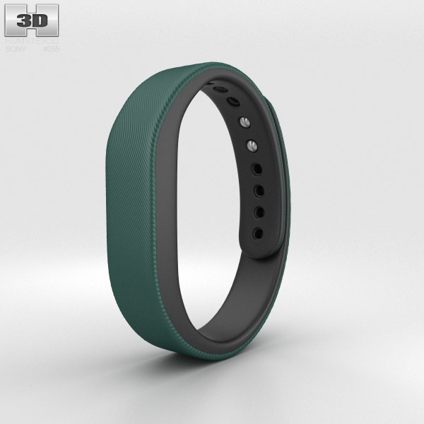 Sony Smart Band SWR10 Green 3d model