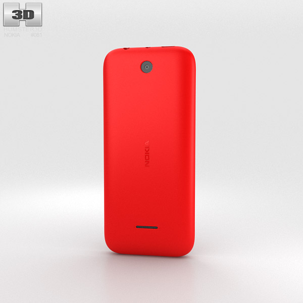 Nokia 225 Red 3d model
