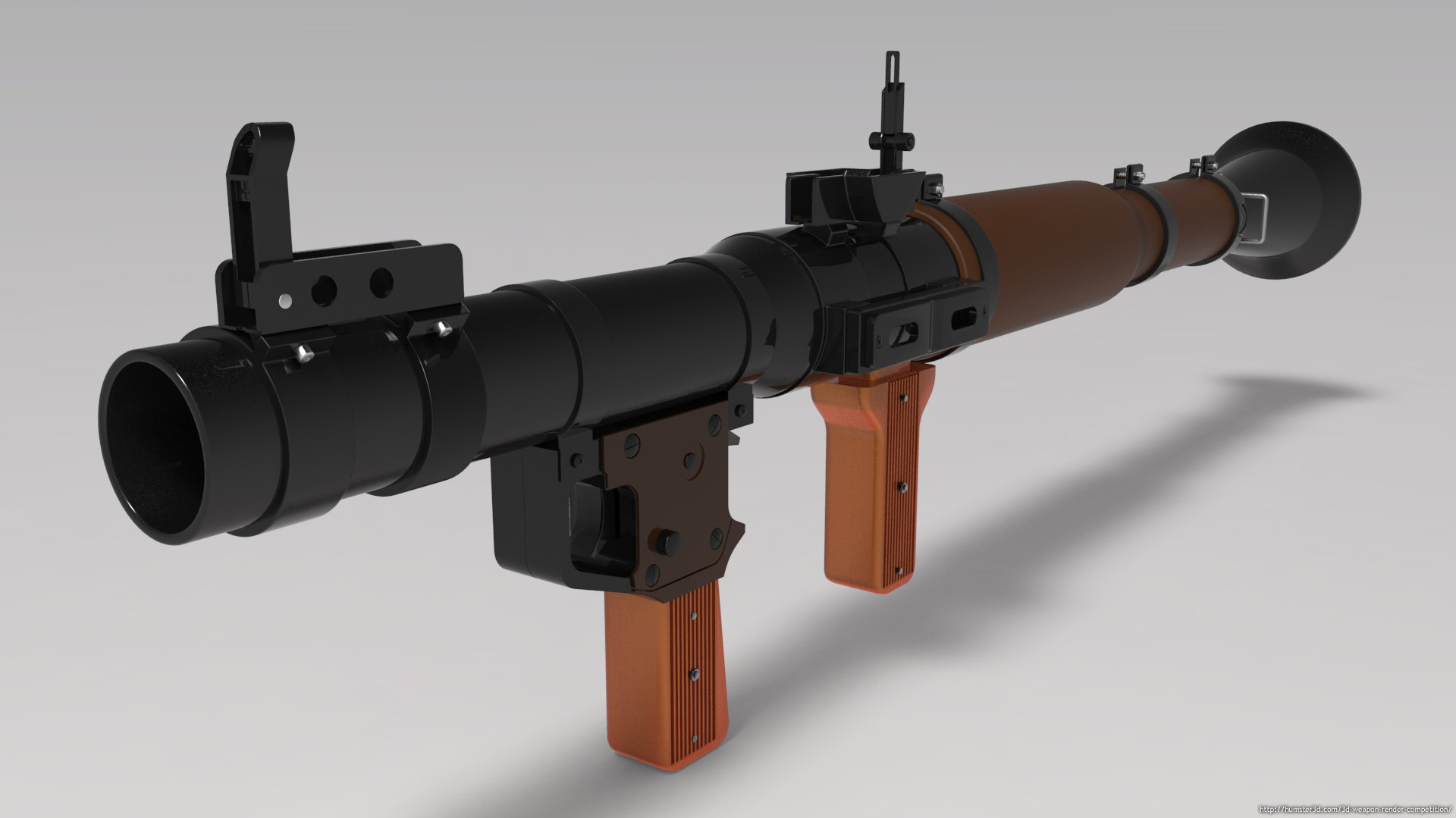 RPG Rocket Launcher 3d art