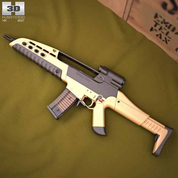 Heckler & Koch XM8 3d model