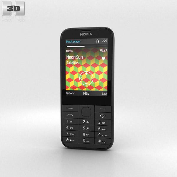 Nokia 225 Black 3d model
