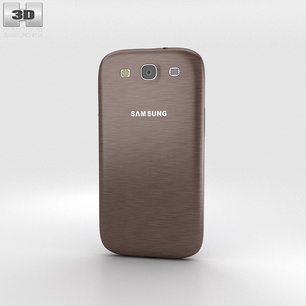 Samsung Galaxy S3 Neo Amber Brown 3d model