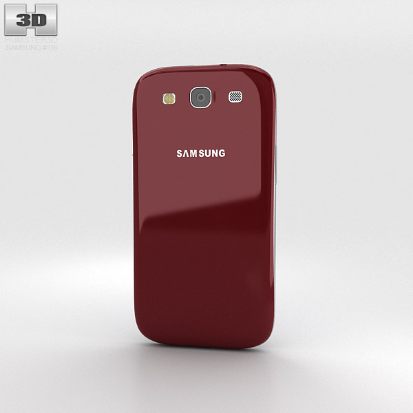 Samsung Galaxy S3 Neo Garnet Red 3d model