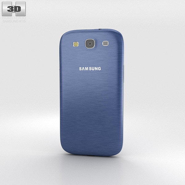 Samsung Galaxy S3 Neo Pebble Blue 3d model