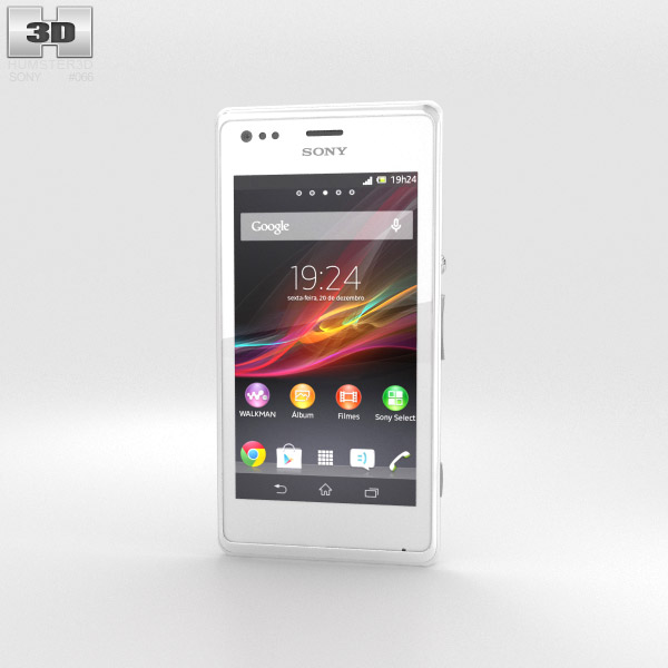 Sony Xperia M White 3d model
