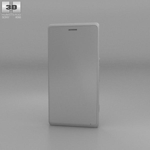 Sony Xperia M White 3D model - Hum3D