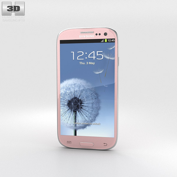 Samsung Galaxy S3 Neo Pink 3d model