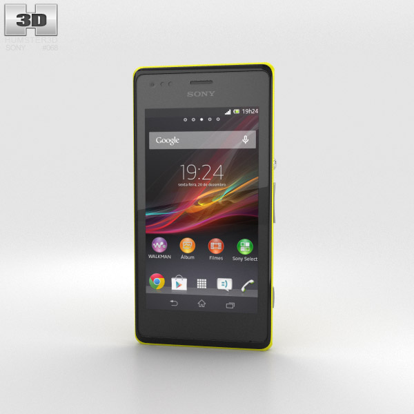 Sony Xperia M Yellow 3d model