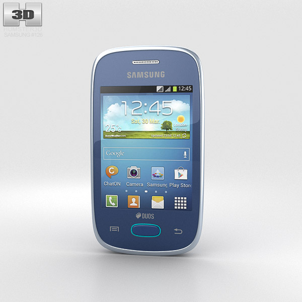 Samsung Galaxy Pocket Neo Blue 3d model