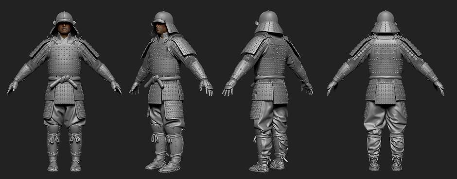 samurai cg inspiration hum3d