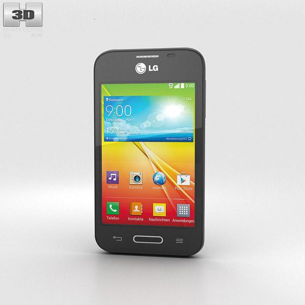 LG L40 Black 3d model
